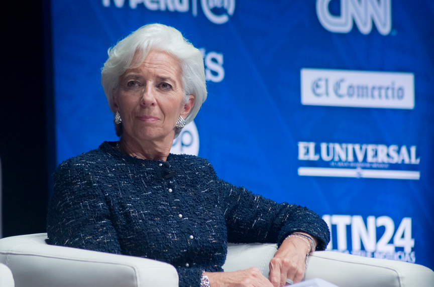 CHRISTINE LAGARDE, diretora do FMI,